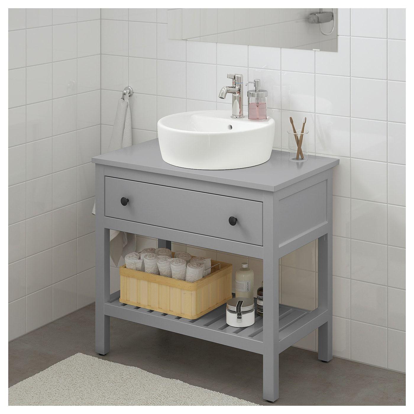 Hemnes Tornviken Waschbeckenschrank Off Waschb 45 Grau Ikea Deutschland Waschbeckenschrank Hemnes Badezimmer Mobel