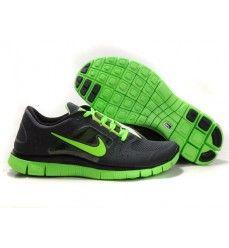Homme Nike Free Run 3 Soldes Noir Vert-20