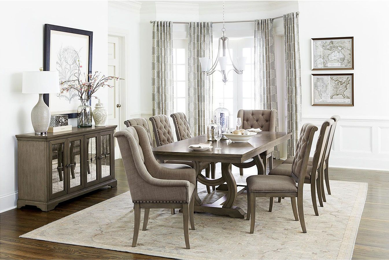 Vermillion Dining Room Set Classic Dining Room Brown Dining
