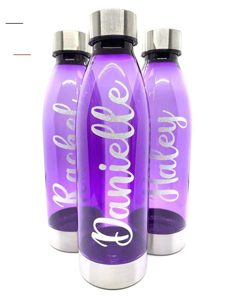 Personalized Water Bottle Plasticwaterbottles 22 Oz Plastic Water Bottle W Stainless Steal Lid In 2020 Personalisierte Wasserflaschen Wasserflasche Ol Kerzen