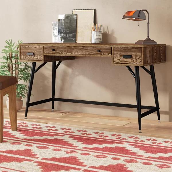 Foundstone Annika 3 Drawer Desk in 2020 Furniture, Wood