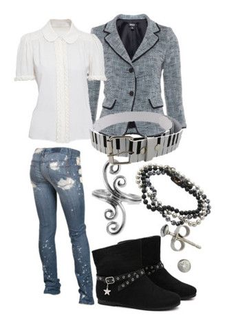 """""""Finnigan James"""" by missolimew ❤ liked on Polyvore featuring Rewash, DKNY, Chloé and London Road"""