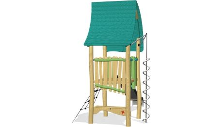 Forest Tower With Curly Climber - NRO1012 - Play structures - Playground Equipment - KOMPAN