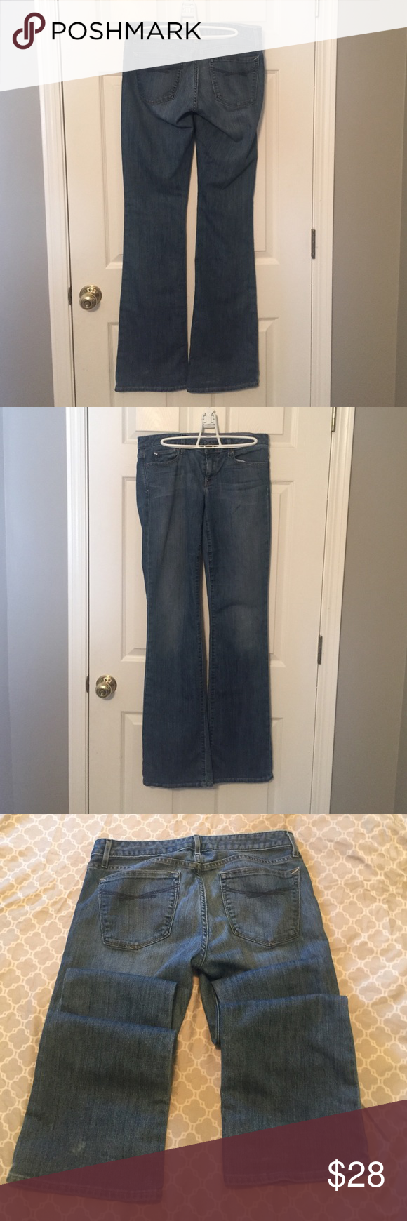 Vintage Gap 8xl jeans! Gently used Gap curvy bootcut jeans in size 8 extra long. These are the perfect shade of medium blue, and have the classic blue embroidery on the back pockets. No rips or tears, just slight signs of wear by the back cuffs which are barely noticeable. These will be your go to jeans! GAP Jeans Boot Cut
