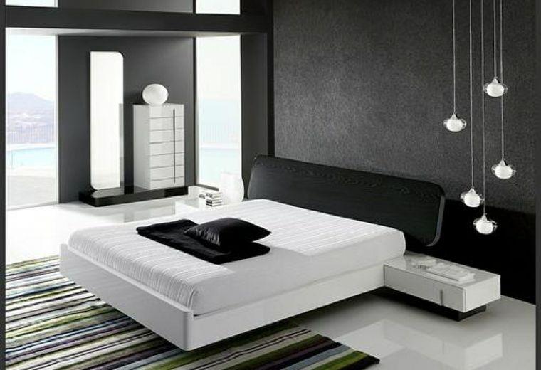 Interiores minimalistas 85 habitaciones en blanco y negro - Dormitorios juveniles minimalistas ...