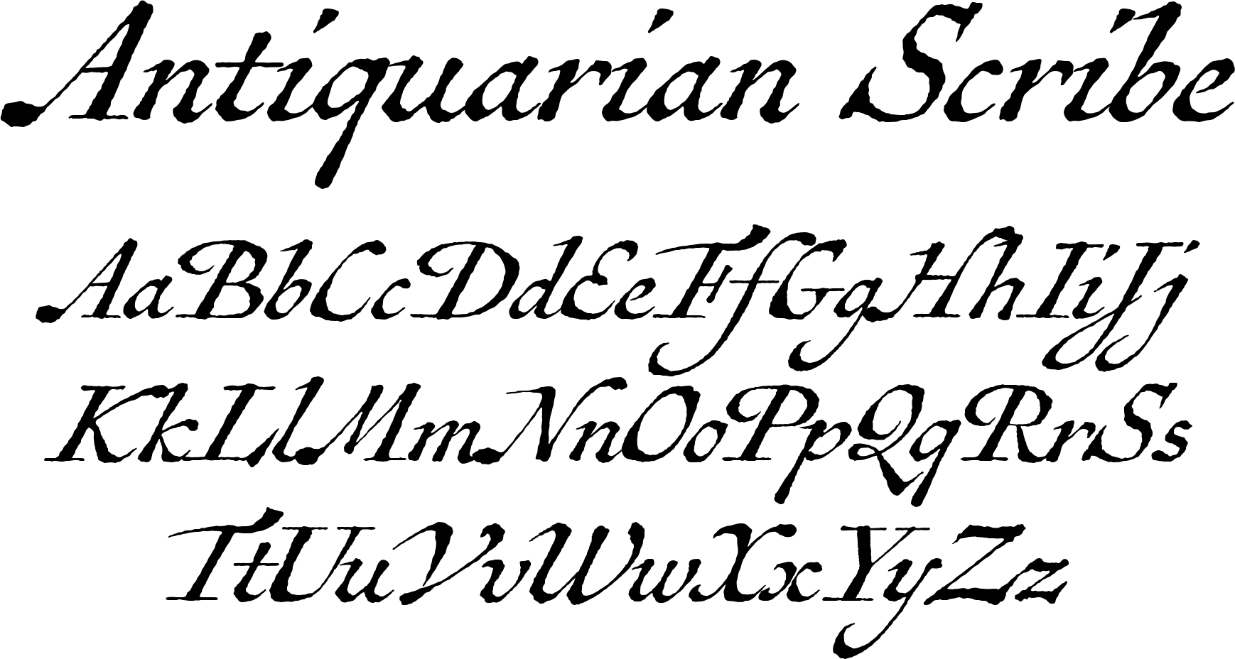 Antiquarian Scribe Font A Few Years Ago At An Antique Book Shop