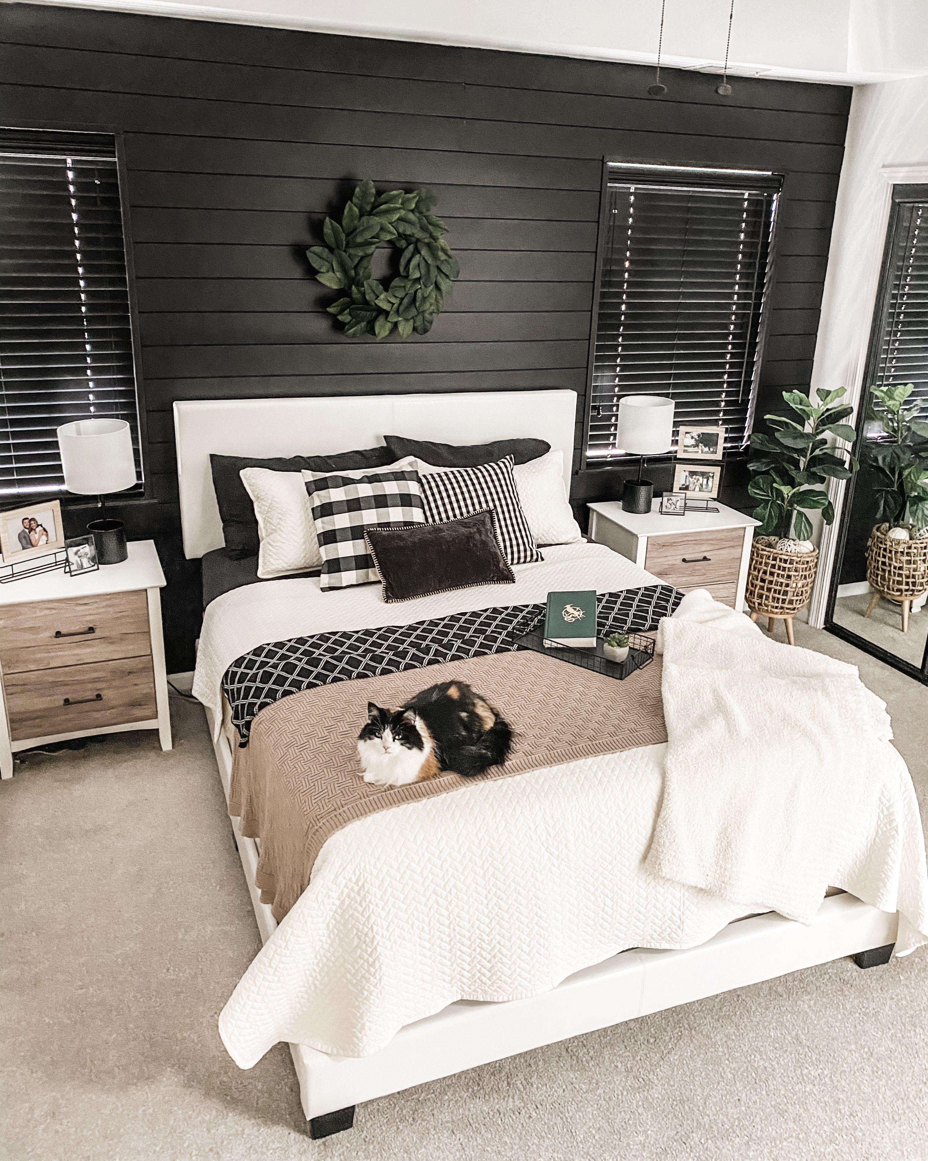 Bold Black Shiplap Bedroom Black Walls Bedroom Gray Master Bedroom White Master Bedroom
