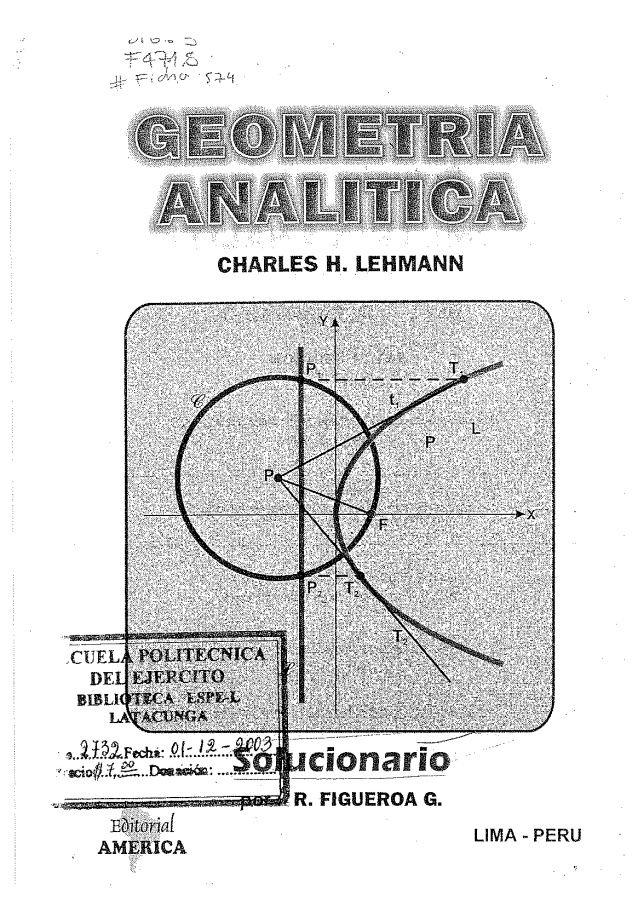 Libro De Geometria Analitica De Lehmann Pdf Download