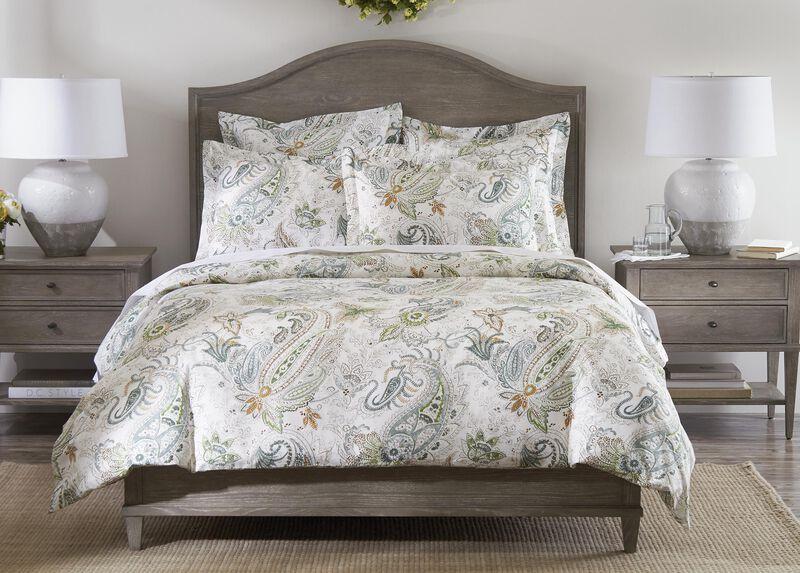 Spring Green Paisley Duvet Cover And Sham Paisley Duvet White Bedding Bed Duvet Covers