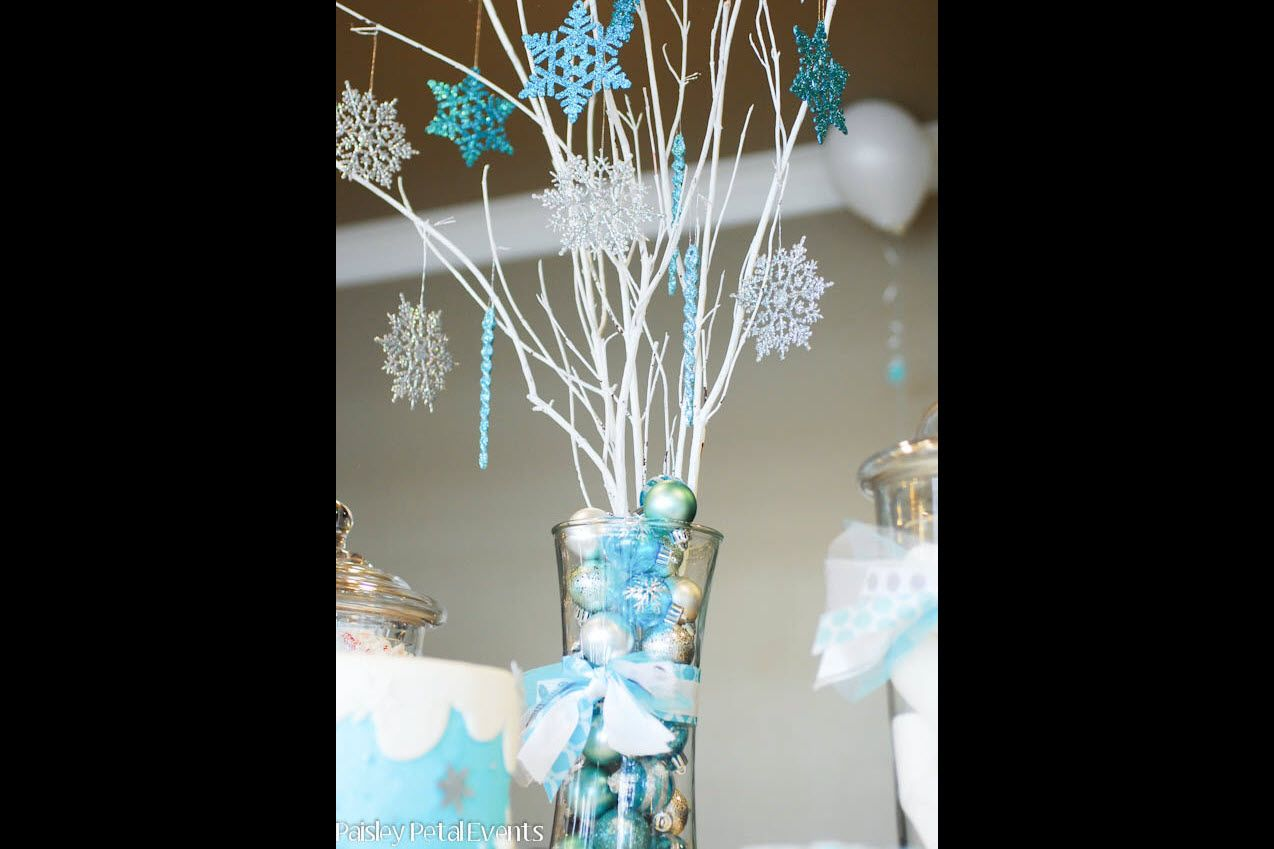 Snowflake Tree Centerpiece