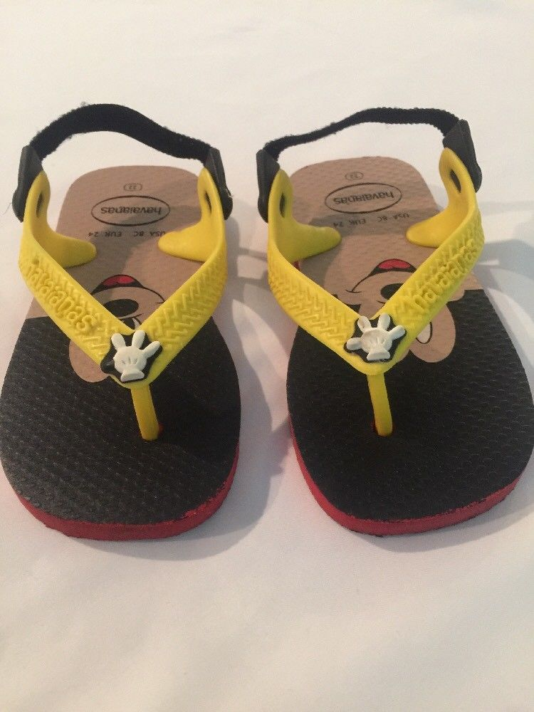 a031f9082473 HAVAIANAS Disney Mickey Mouse Size US 8  EUR 24 Rubber Flip Flops W Strap  Back  fashion  clothing  shoes  accessories  babytoddlerclothing  babyshoes  (ebay ...