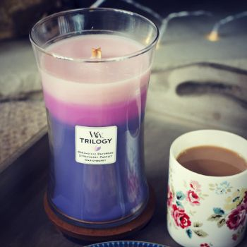 Woodwick Wild Berry Smoothie Trilogy Candle Review From Love Aroma