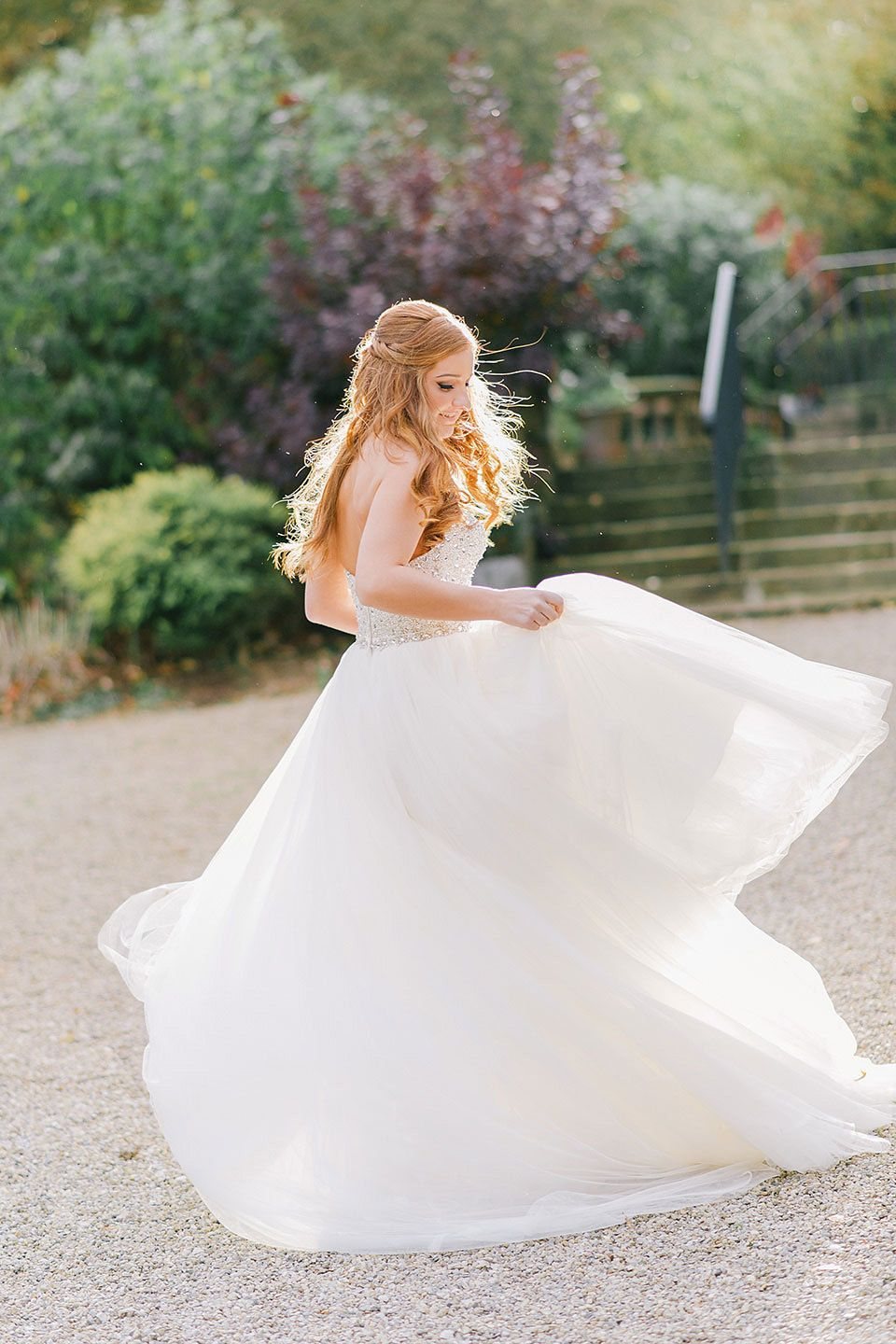 Dresses for a country wedding  Blue Shoes and a Maggie Sottero Gown for a Rustic Inspired Country