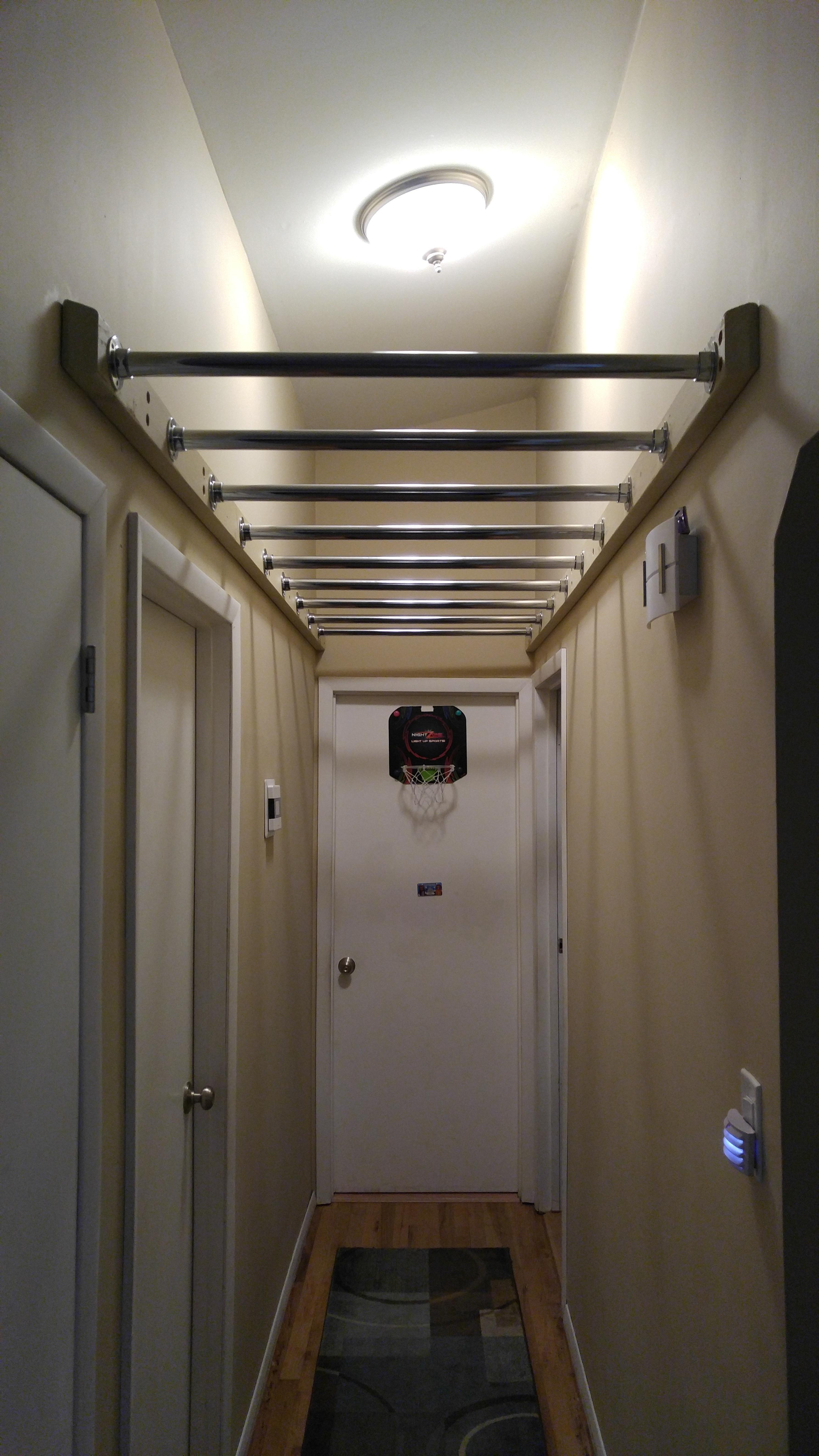Hallway monkey bars Hallway monkey bars