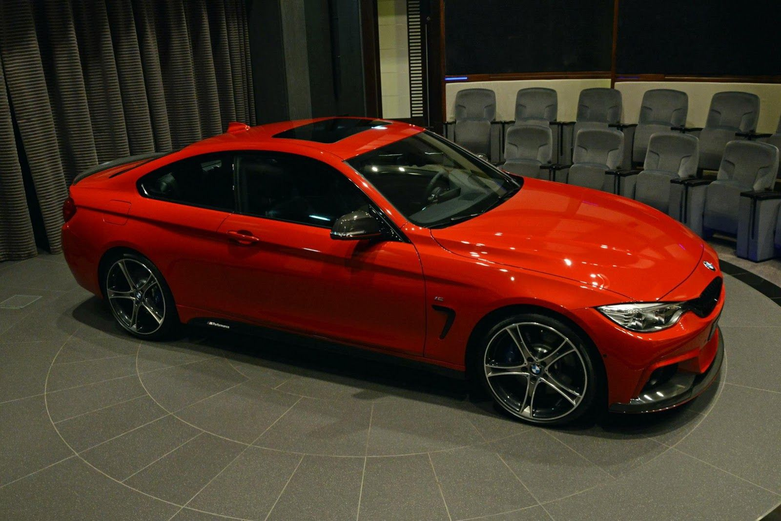 Red Bmw 435i Coupe M Sport Drops By Abu Dhabi Dealership Carscoops Bmw 435i Bmw Coupe
