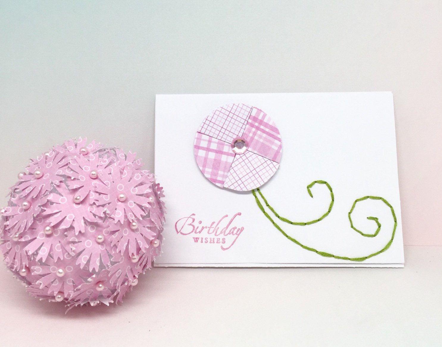 Birthday Card For Girls Paper Handmade Birthday Greeting Card