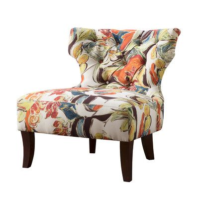 Waterton Wingback Chair Wingback Chair Armless Accent Chair