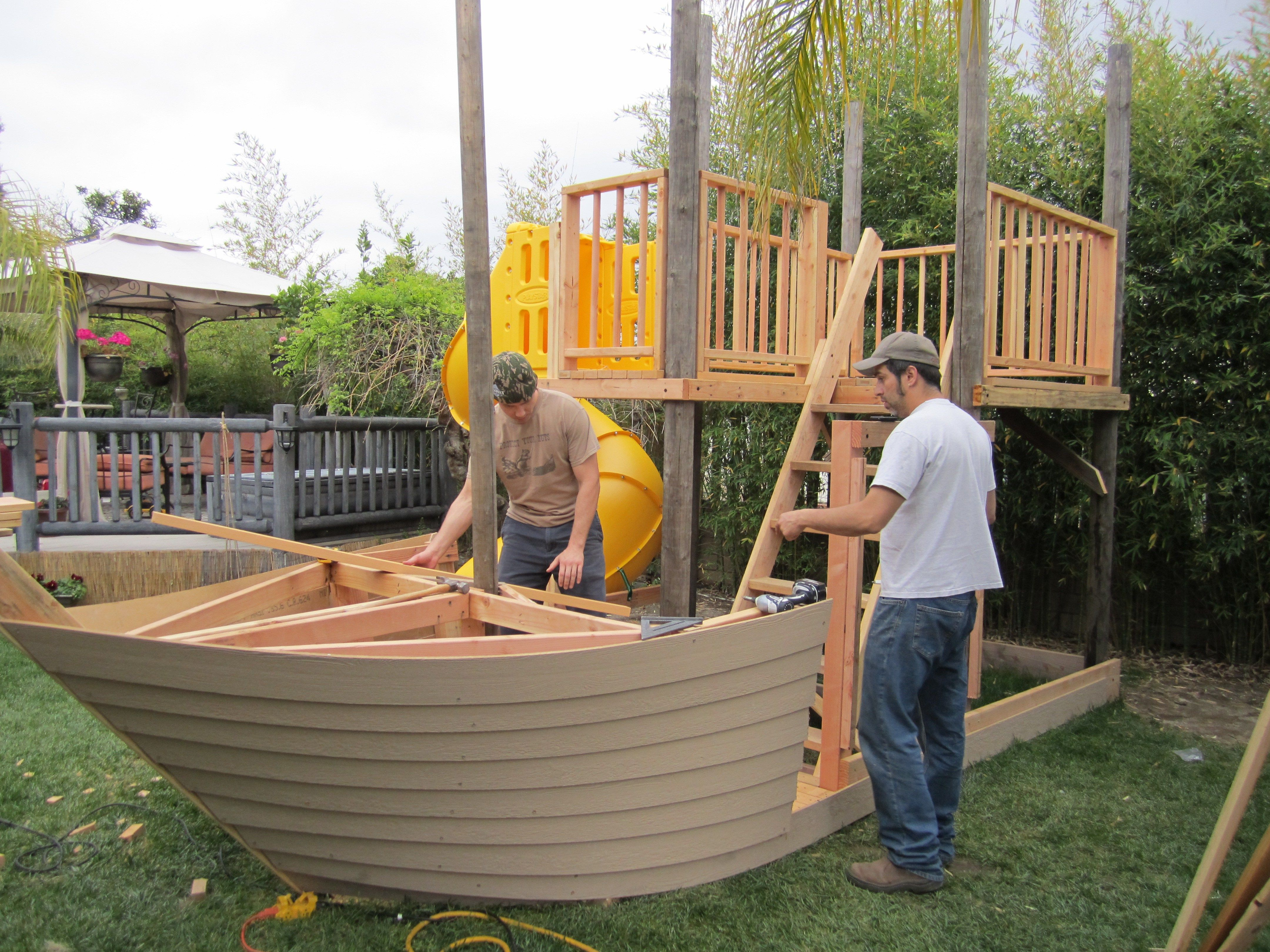 Woodworking Projects Plans: PDF Plans Playhouse Plans Pirate Ship Download Cool Wood