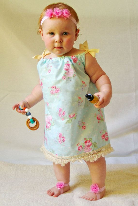 Boho Pillow case dress - 6 months to 36- Ready to ship