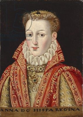 Portrait of Anna of Austria, Queen of Spain, c.1600 (oil on panel)