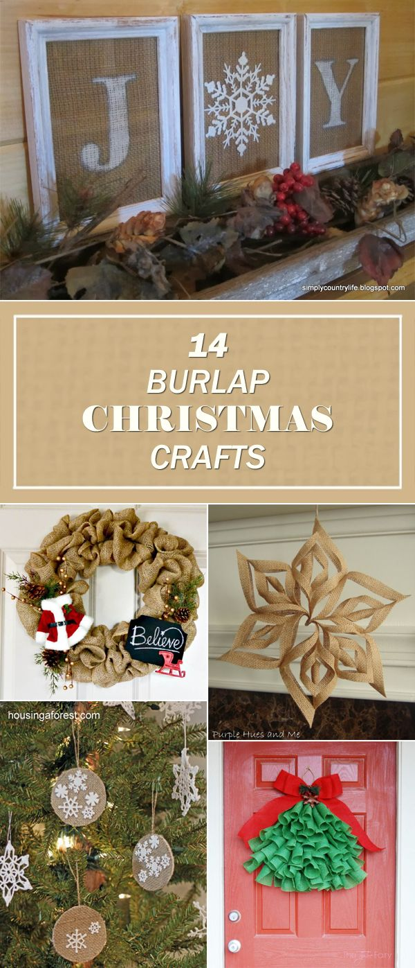14 Beautiful Burlap Christmas Crafts to Make This Year #craftstosell