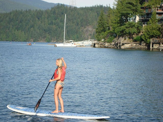 Stand Up Paddle Board In Deep Cove Paddle Boarding Surfing Sup Boards