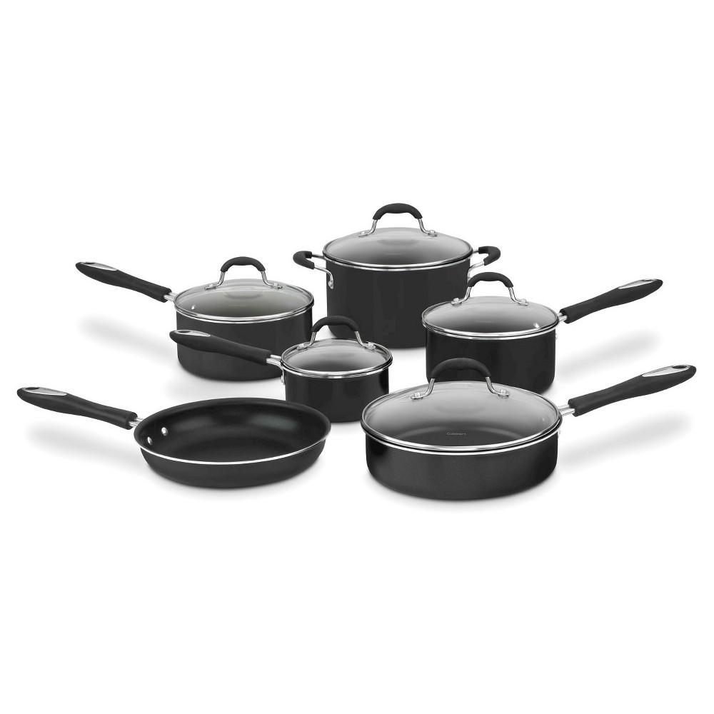Cuisinart Advantage Nonstick 11 Piece Cookware Set w/cover - Black 55-11BK