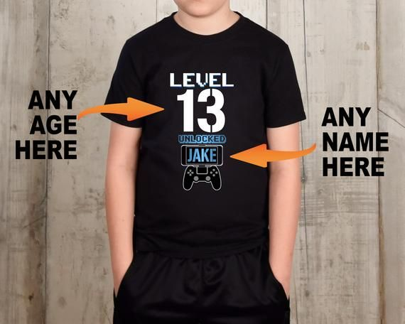 13th Birthday Boy Video Game Party Shirt 13 Year Old Gift