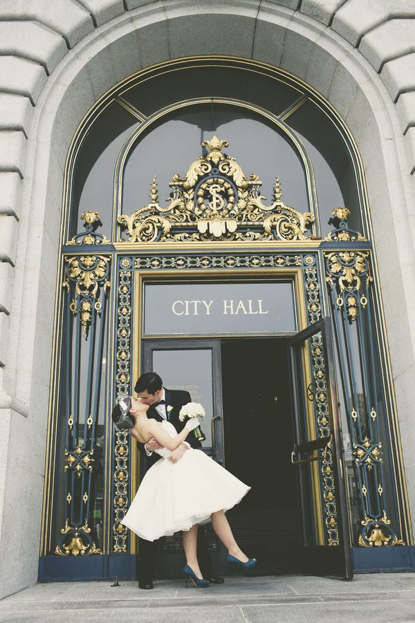 This Makes Me Want To Elope Off City Hall We Go Too Cute