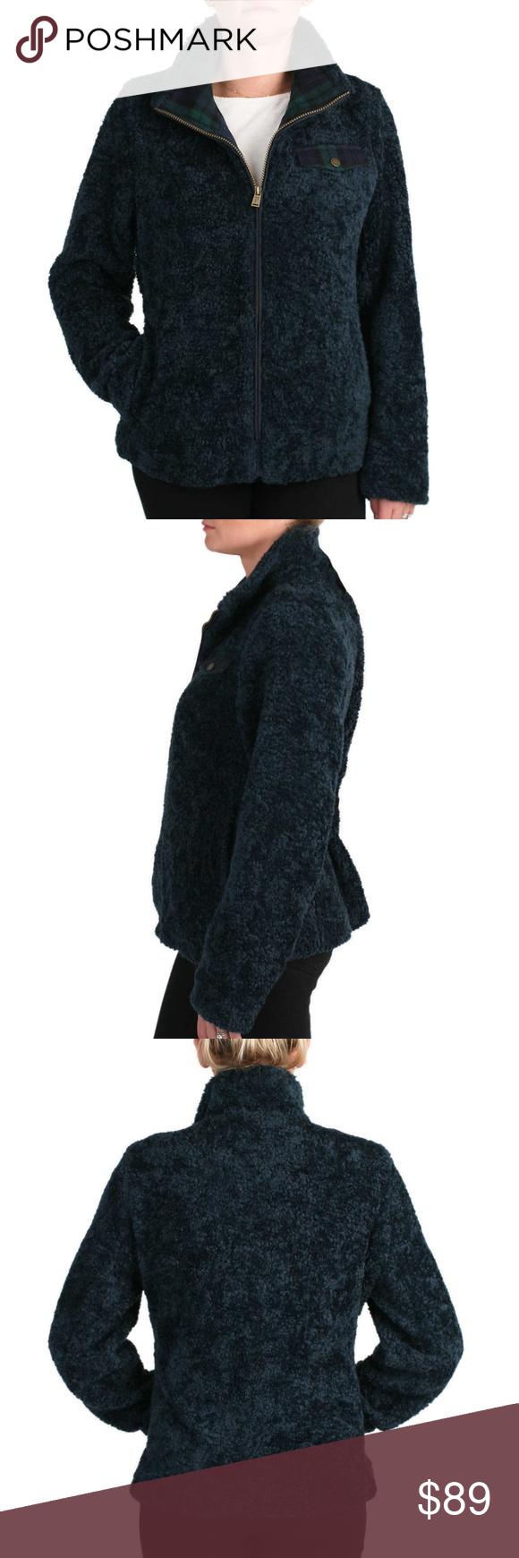 Pendleton Ladies Fuzzy Zip Jacket Ladies Hooded Jacket Winter Women Zip Jackets [ 1740 x 580 Pixel ]