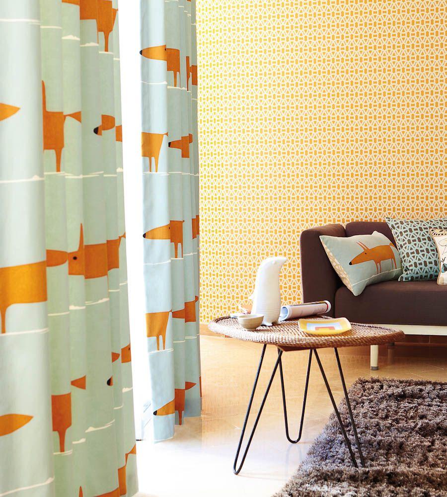 Interior Design Classic, Retro | Mr Fox Fabric by Scion | Jane ...