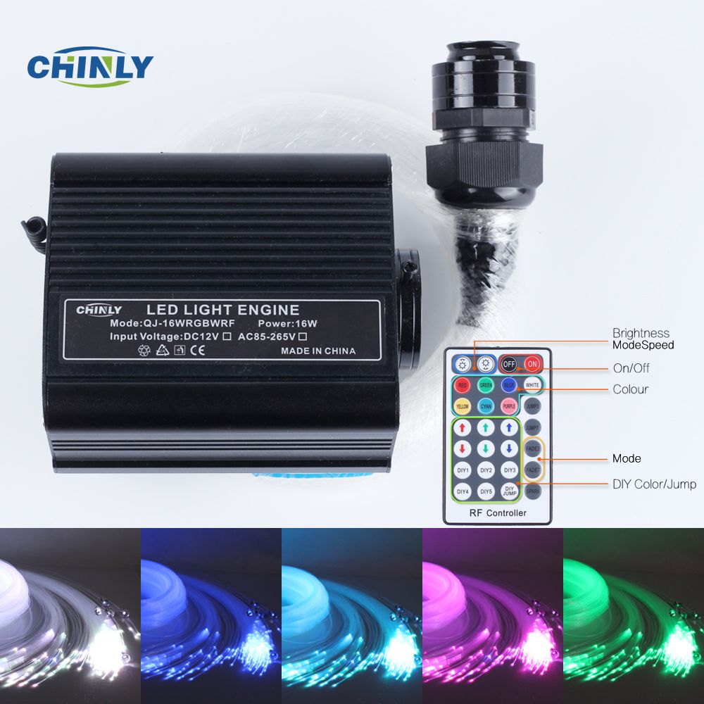 16ワットrgbw 28key Rfリモートled光ファイバーライトスター天井キットlights2m 0 75ミリメートル 1 0ミリメートル 1 5ミリメートル クリスタル Star Ceiling Commercial Lighting Fiber Optic