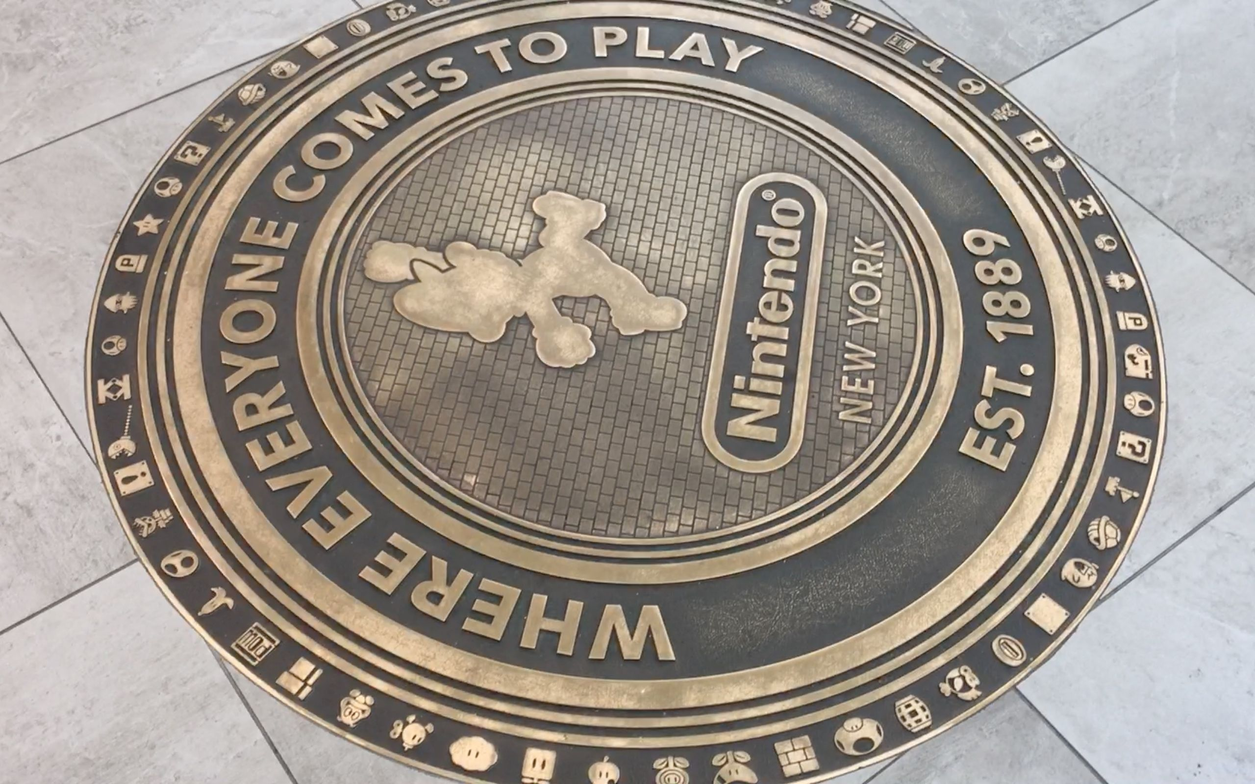 The Gold Mario Plaque Where Everyone Comes To Play Est