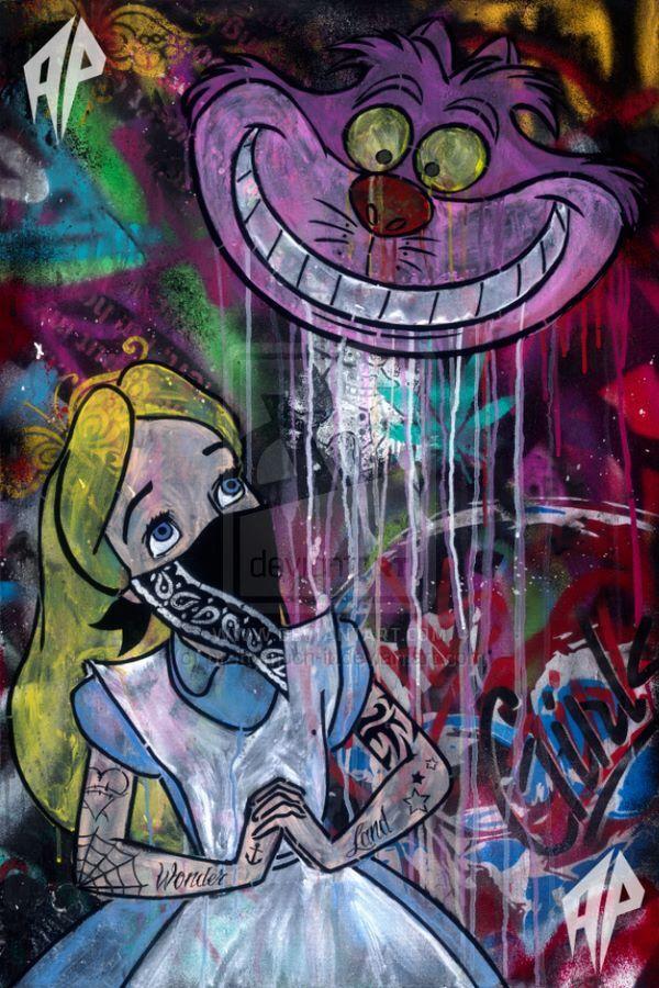 Alice in wonderland graffiti art | Wonderland en 2019 ...
