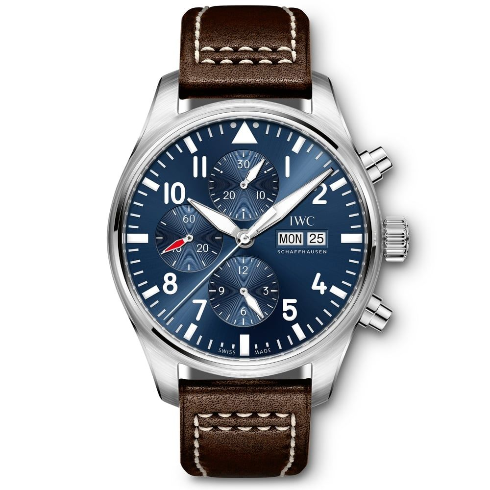 2d85c232f9d IWC Pilots Chronograph Le Petit Prince Steel Blue Dial Automatic Men's  Leather Strap Watch IW377714 From Berry's Jewellers