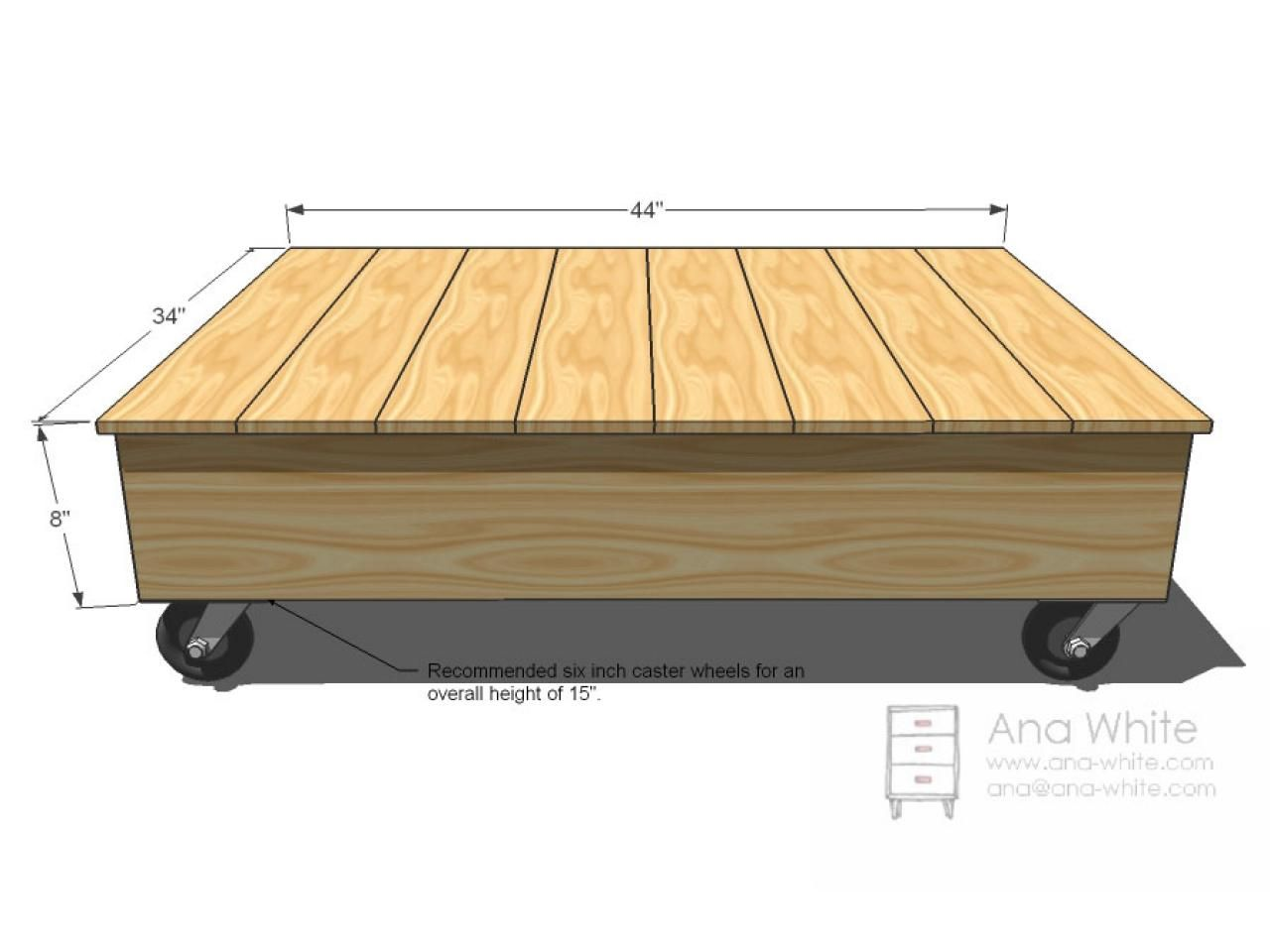 Build a factory cart coffee table cart coffee table ana for Square coffee table plans