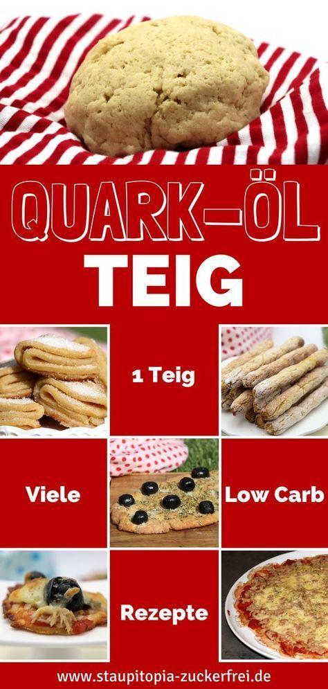 Low Carb Quark-Öl-Teig mit Mandelmehl - Staupitopia Zuckerfrei