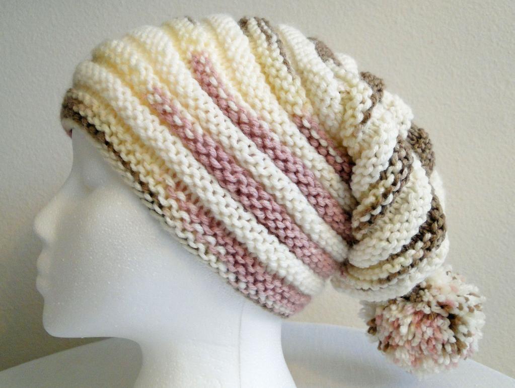 Ombr knitting patterns inspiration knit patterns and yarns neapolitan ribbed stocking hat knitting pattern bankloansurffo Choice Image