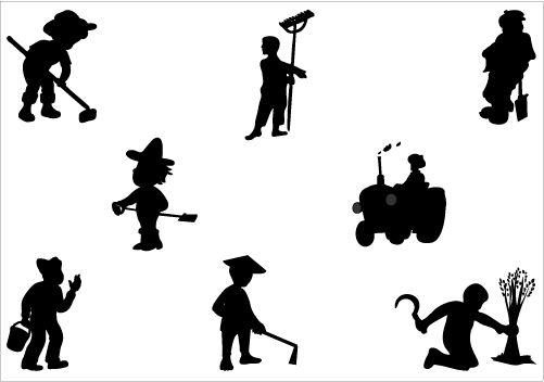 Farmer vector graphics Silhouette Clip Art #Silhouette #ClipArt ...