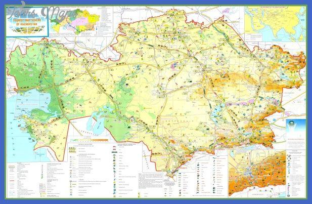 nice Kazakhstan Map Tourist Attractions Tours Maps Pinterest