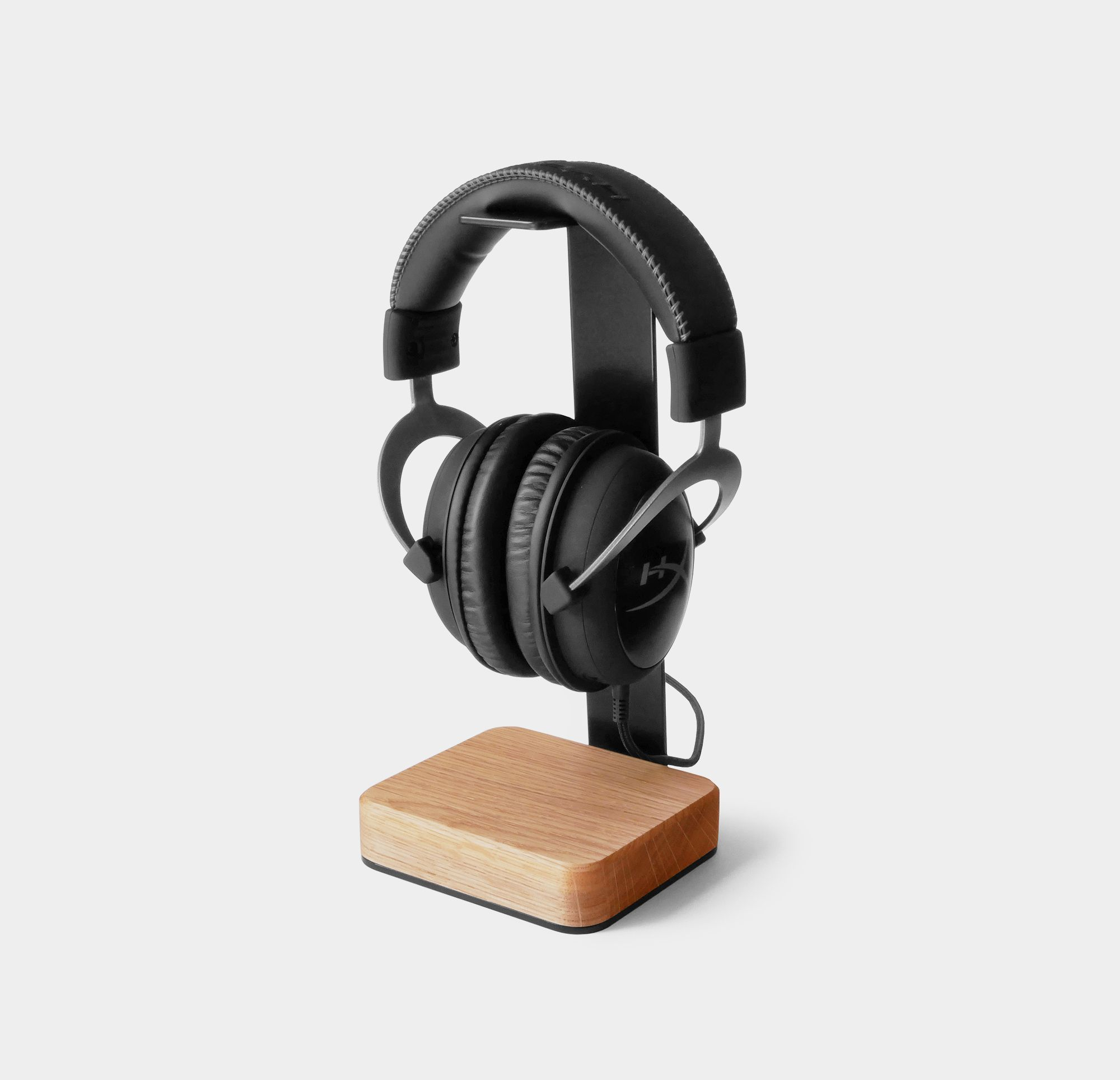 Wood And Steel Headset Stand Wood Headphones Headphone Stands Headphone Holder
