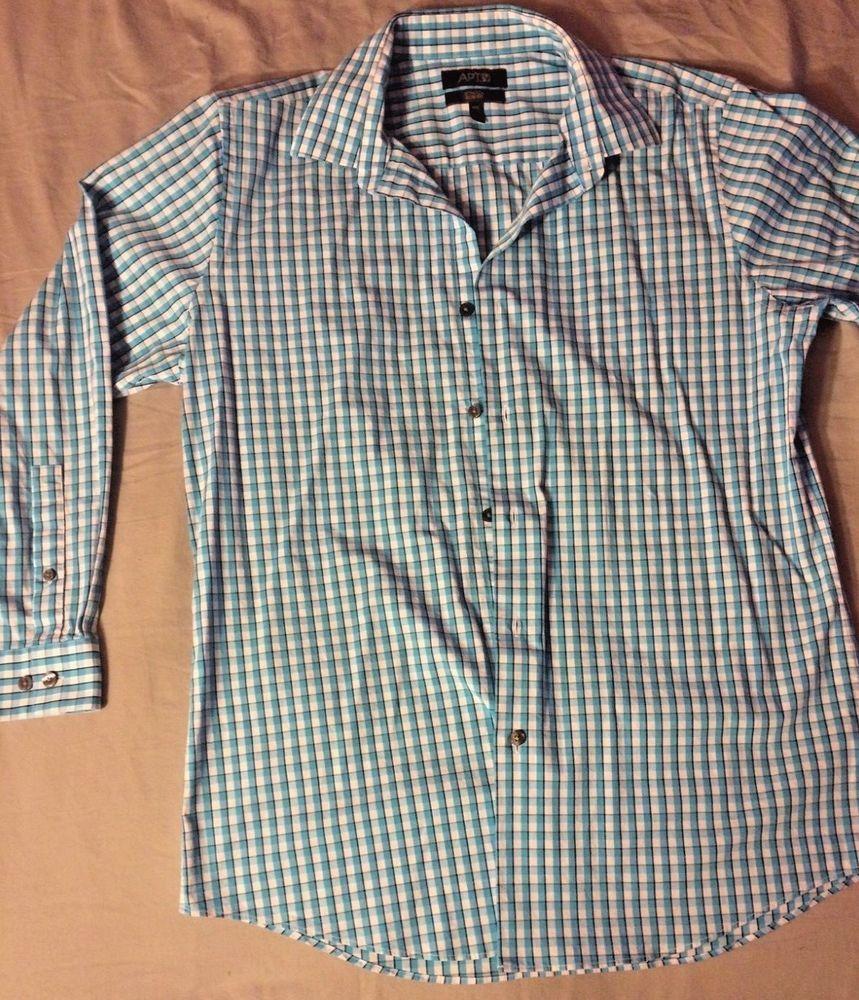 Apartment 9 Stretch Slim Fit Men\'s Dress Shirt Large 16.5 32 ...