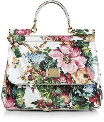 34177972f311 Dolce   Gabbana Miss Sicily Mediterranean Floral Bag - Lyst ...