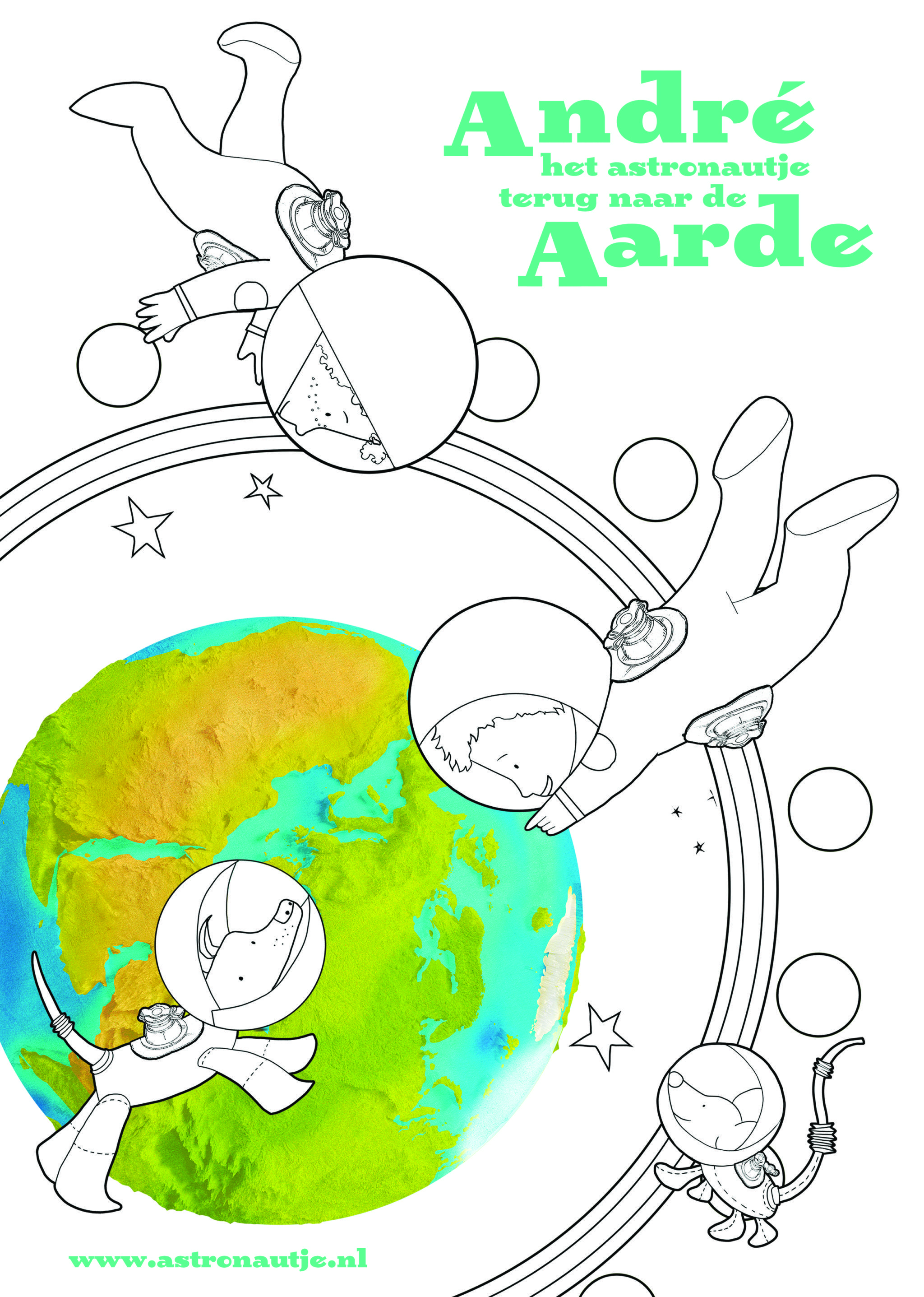 Knutselen Met Andre Het Astronautje Tussen De Maan En Sterren De Ruimte Knutselen Ruimte Thema En Het Heelal