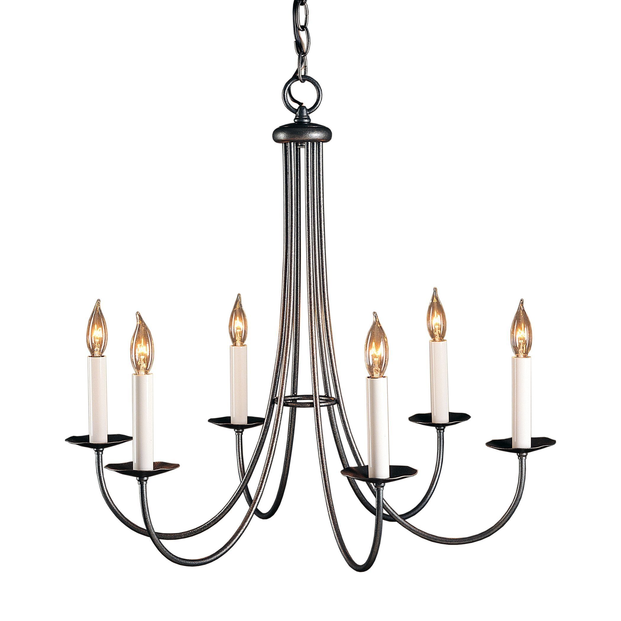 hubbardton forge lighting. Simple Lines 6 Arm Chandelier | Hubbardton Forge Lighting