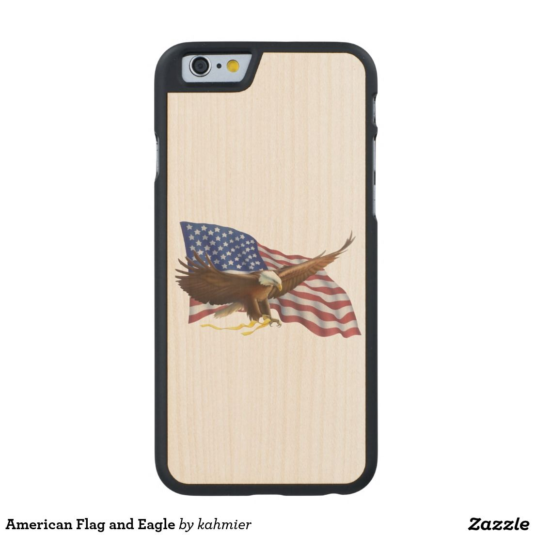 American Flag and Eagle Carved® Maple iPhone 6 Case