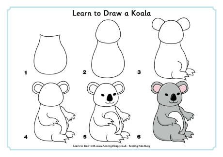 Learn to draw a koala how to draw pinterest draw for How to draw the flower of life step by step