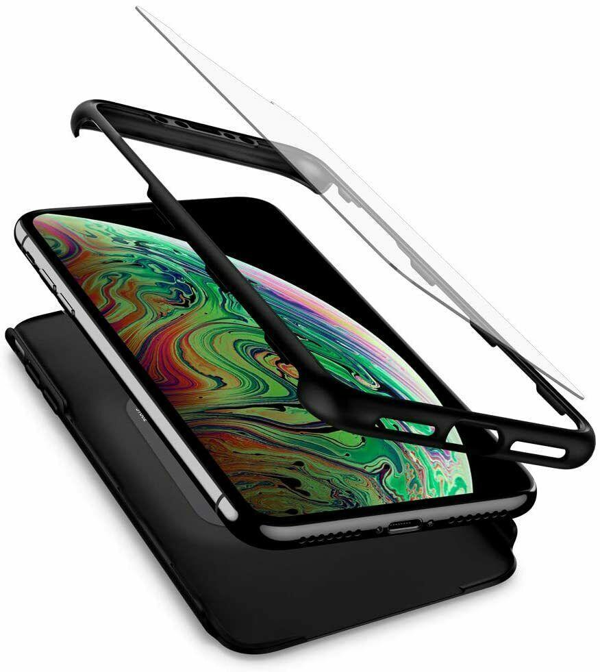 Spigen Thin Fit 360 Apple Iphone Xs Max 6 5 Case W Tempered Glass Black Spigen Spigen Tempered Glass Too Thin
