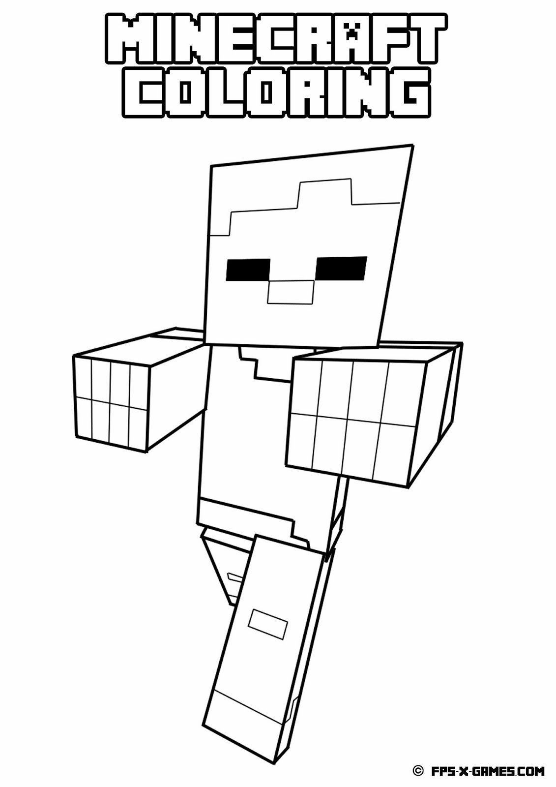 Minecraft Villager Coloring Page - #Coloring #Minecraft