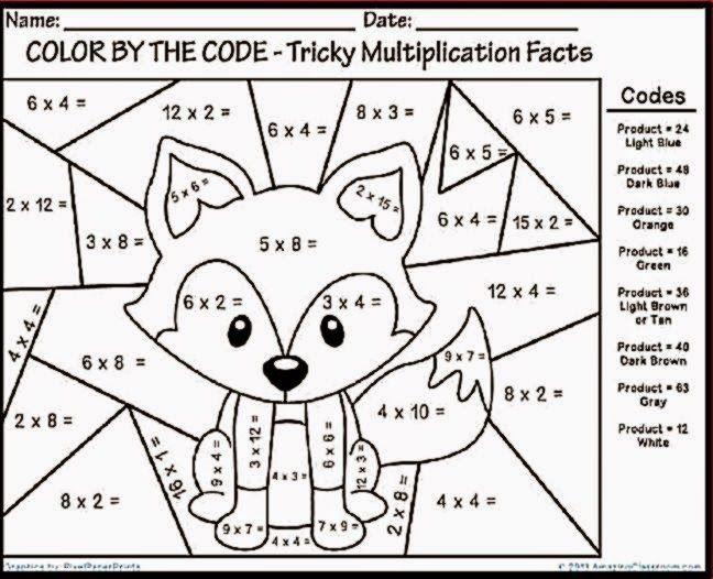Math Coloring Worksheets 3Rd Grade math coloring pages 7th grade 03 ...